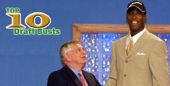 Top 10 NBA Draft Busts Of The 2000s