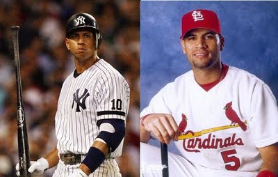 """Prince"" Albert Pujols vs. Alex ""A-Rod"" Rodriguez"
