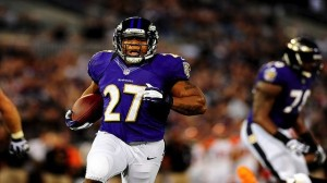 Ray Rice says fumbles won't happen again. (US PRESSWIRE PHOTO)