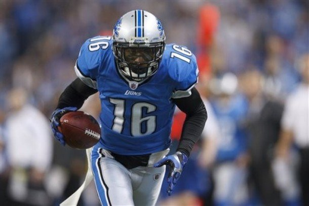 According to the Detroit News, wide receiver Titus Young has severe mental and emotional issues. He was cut from the Lions on Monday (Credit: AP Photo)