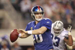 Former Giants RB Tiki Barber says that Eli Manning is the better brother. (Tim Heitman/US Presswire)