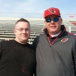 Head Coach Bruce Arians and I at the Senior Bowl. Expecting great things from him in 2013. (Amy Richardson)
