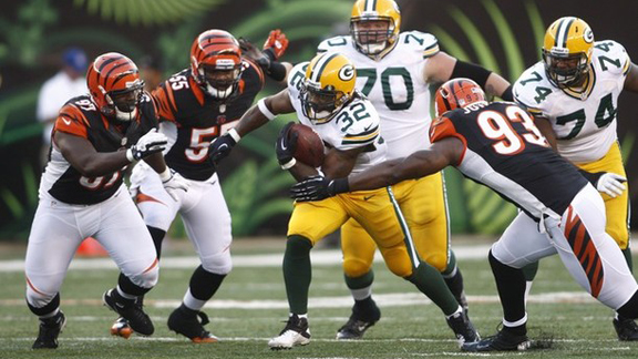Green Bay Packers running back Cedric Benson is due in court next month after two of his dogs attacked his neighbors calves (Credit: AP Photo)