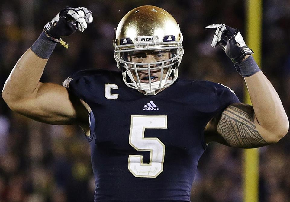 Heisman finalist Manti Te'o has been an inspiration for all this college football season. But his college legacy suddenly took a turn for the worst. (Darron Cummings/Associated Press)