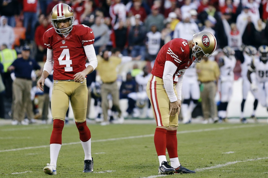 David Akers has had his most disappointing season of his career, so the 49ers have decided to bring a new kicker to town. (Photo: AP/Marcio Jose Sanchez)