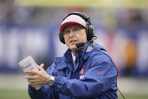 According to corner back Terrell Thomas, New York Giants head coach Tom Coughlin will coach one more season and then retire (Credit: AP Photo)