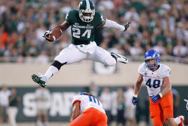 Michigan State running back Le'Veon Bell is reporting that similar to Colorado's Nick Kasa, he was also asked about his sexuality during the draft (Credit: AP Photo)