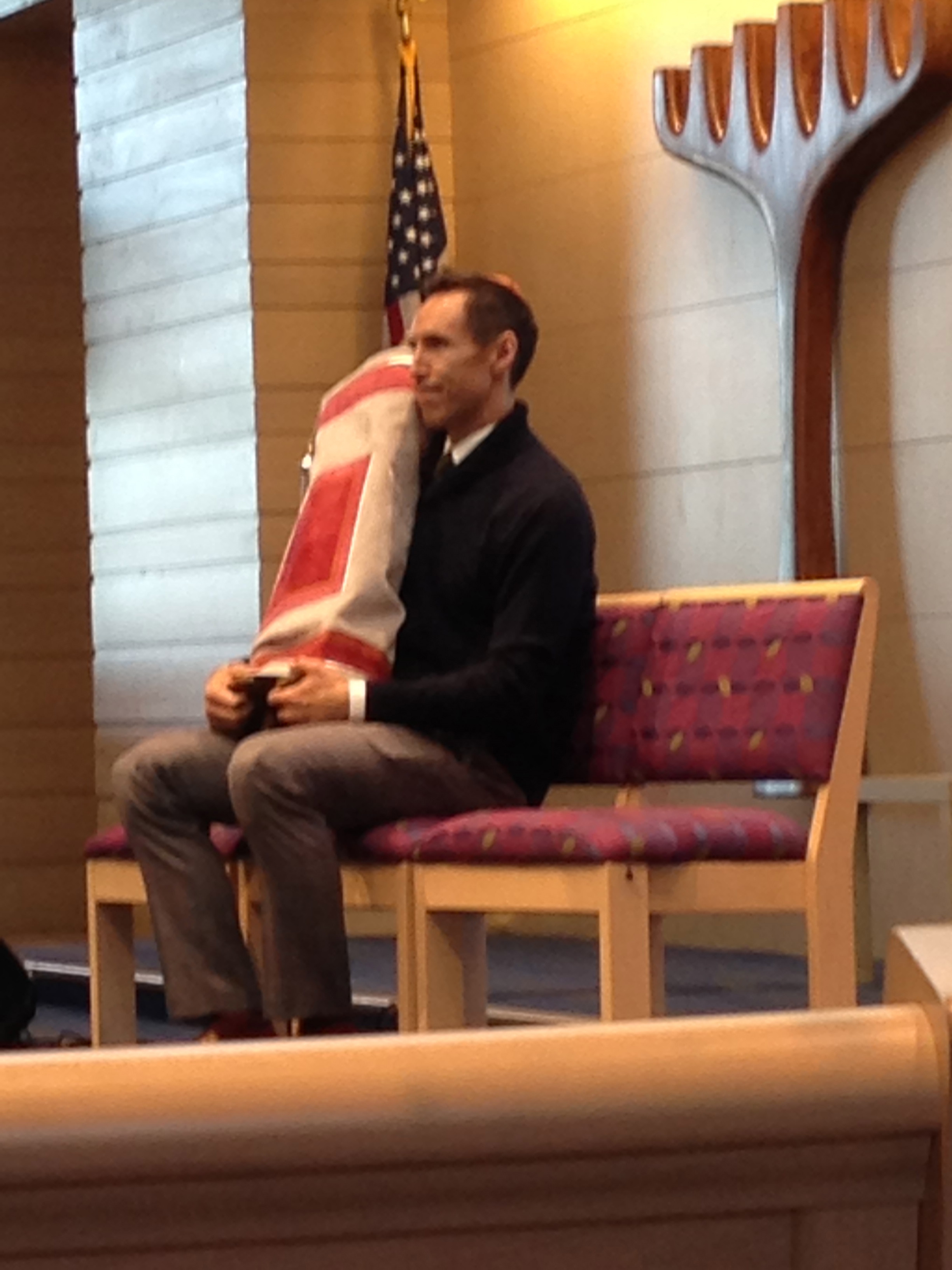 Steve Nash gets cozy with the Torah at a Barmitzvah
