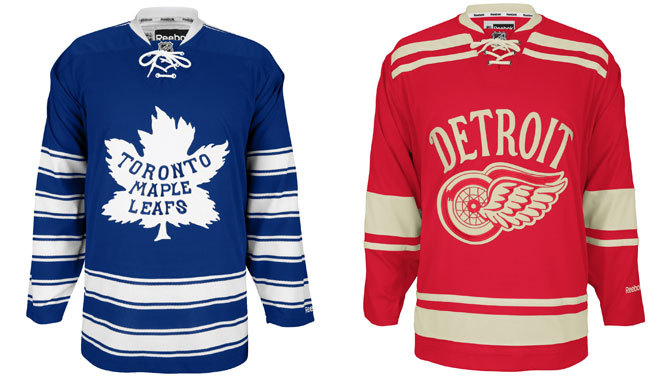 Jerseys for the 2014 Winter Classic. Image Credit: NHL.com