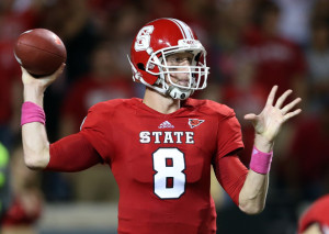 NC State QB Mike Glennon. Image Credit: Streeter Lecka, Getty Image