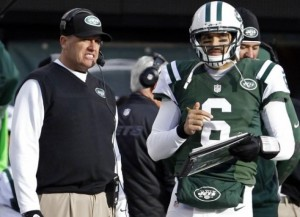 Is this the last chance  for Rex Ryan and Mark Sanchez? (photo credit: new york daily news)