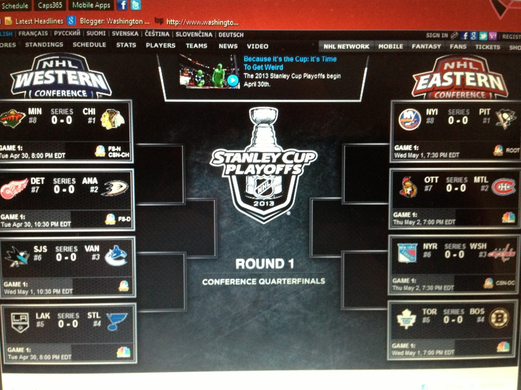 2013 Stanley Cup Playoffs are set