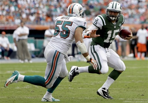 """After a successful off-season, line backer Koa Misi thinks the Dolphins defense can be """"great"""" this season (Credit: AP Photo)"""