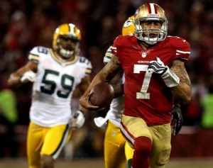 "Colin Kaepernick users will enjoy using ""Run Free"" in Madden NFL 25. (AP Photo)"