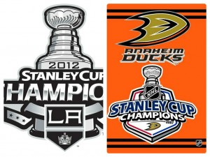 The LA Kings and Anaheim Ducks will meet at Dodgers Stadium (photo made using Fotor.com