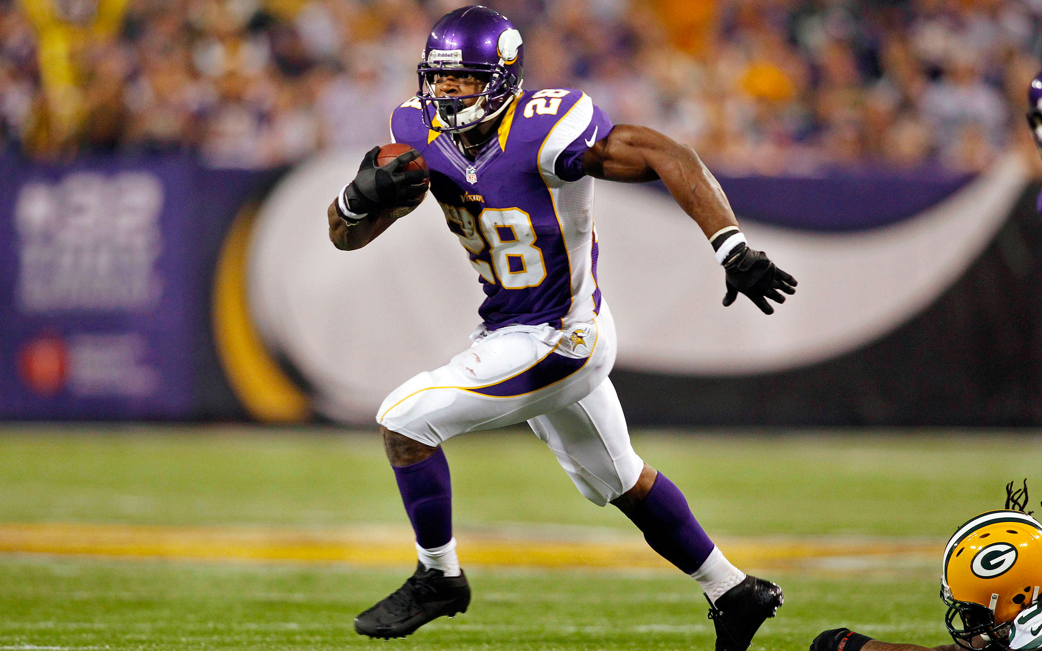 Hoping to rehab his knee, Adrian Peterson admitted he used the Wii to help heal quicker last season (Credit: USA Today)