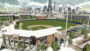 Concept view of Curtis Granderson Stadium Credit: ChicagoBusiness Insider