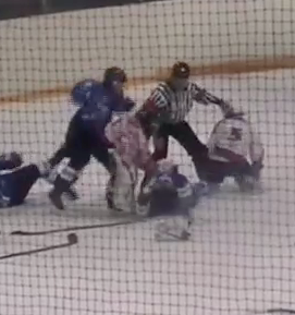 VIDEO: INSANE youth hockey fight takes place in Russia