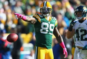 Green Bay receiver James Jones got people talking early in the off season when he said the Packers may have a trio of 1000 yard WR's (Credit: Getty Images).
