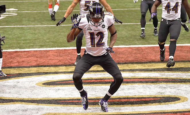 Baltimore Ravens wide receiver Jacoby Jones was placed on the non-football injury list today after failing his team's conditioning test (Credit: Sports-Illustrated)