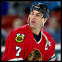 Chris Chelios, back when he played for he Blackhawks. Photo: Sports Illustrated/CNN