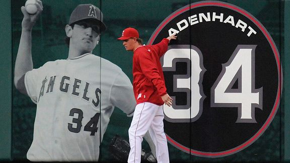 Jered Weaver remembering his fallen teammate Credit: AP/Chris Carlson
