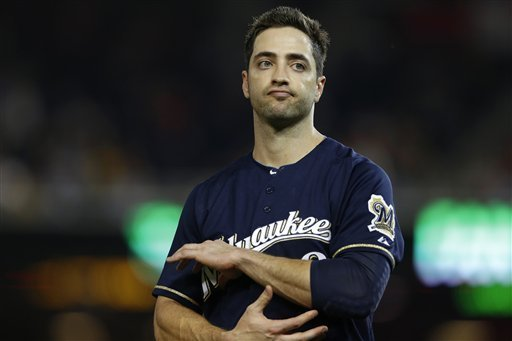 Today, Major League Baseball announced that Milwaukee Brewers outfielder Ryan Braun has been suspended, without pay, for the rest of the season and post-season (Credit: Pennlive.com)