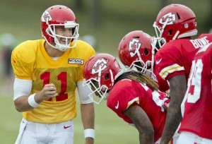 Chiefs OC Doug Pederson says that Alex Smith is the best QB in the league. (DAvid Eulitt/KC Star)