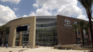 Houston's Toyota Center. (AP Photo/Pat Sulllivan)