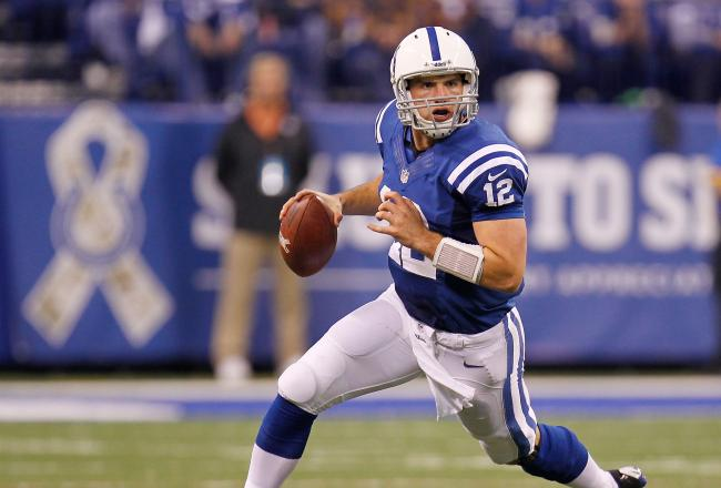 While appearing on ESPN's Mike and Mike today, quarterback Andrew Luck says he still defers to veteran receiver Reggie Wayne (Credit: Irishcentral.com)