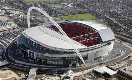 The top five English soccer stadiums
