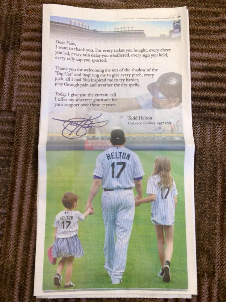 Helton bows out with class (Credit: reddit.com)