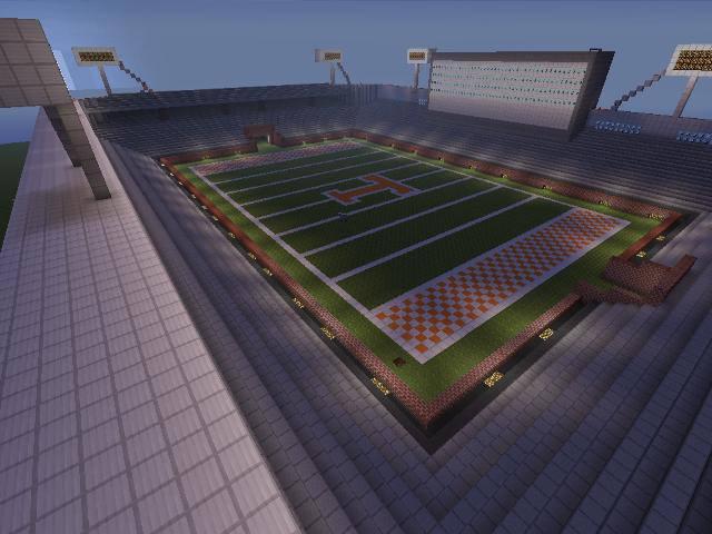 Volunteers Fan Creates Epic Minecraft Replica Of Neyland Stadium
