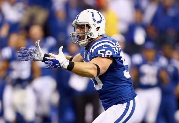 According to the Indianapolis Star, Colts linebacker Andy Studebaker stopped to help a stranded motorist despite spending his off day running errands with his family (Credit: Zimbio)