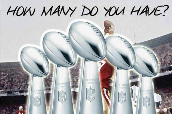 49ers fans will purchase a billboard in Seattle asking Seahawks fans how many Lombardi's they have. (Credit: GoFundMe)
