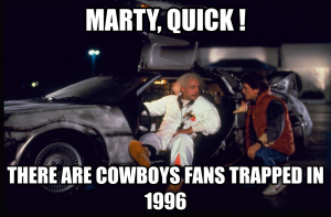 This one is clever and accurate. Besides, who doesn't love them some Back to the Future references??