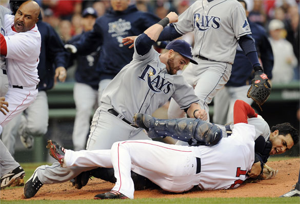 June 8, 2008 Red Sox vs Rays (Credit: Boston Globe/John Bohn)