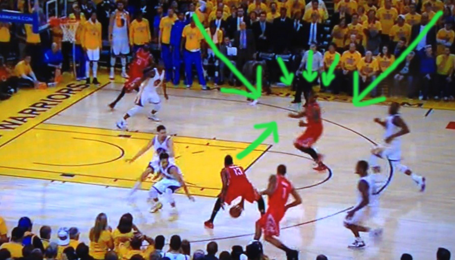 James Harden looks off wide open teammate at end of the game that could have won it
