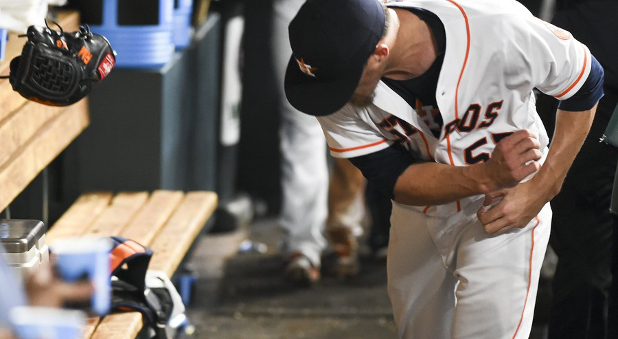 Astros bullpen implosions have been all too common in 2016. Credit: AP Photo/Eric Christian Smith