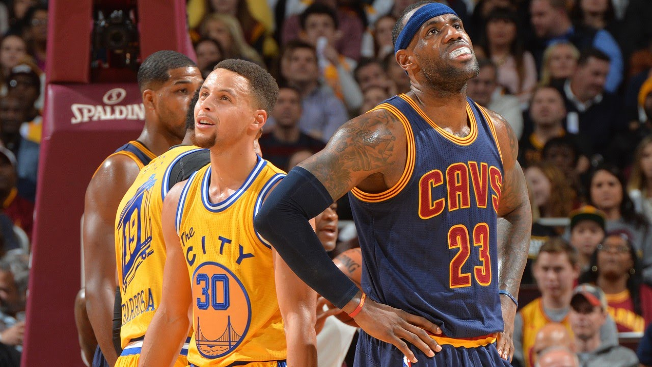 Watch the LeBron James or Stephen Curry : More Pressure?   Cavaliers vs Warriors   2016 NBA ...